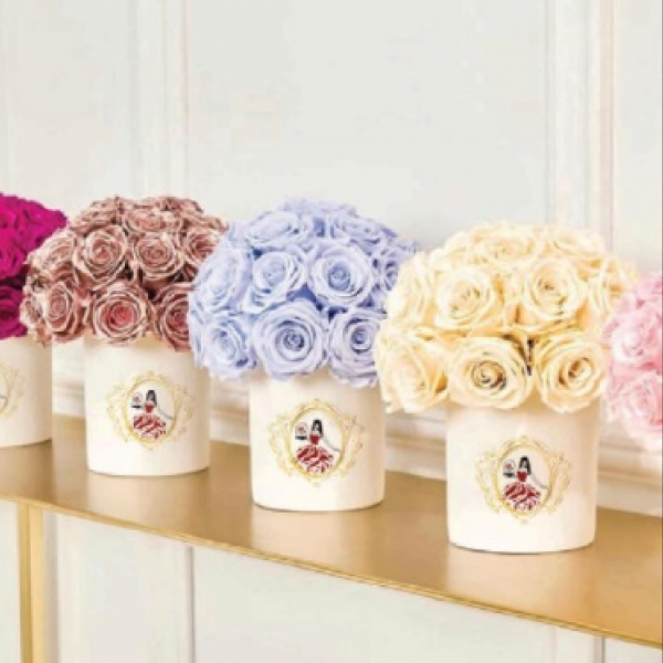 Boxes roses